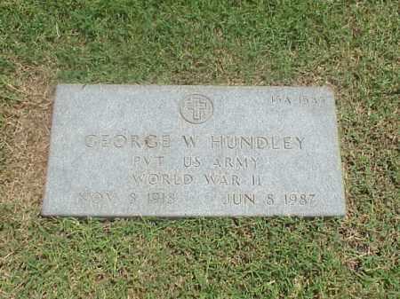 HUNDLEY (VETERAN WWII), GEORGE W - Pulaski County, Arkansas | GEORGE W HUNDLEY (VETERAN WWII) - Arkansas Gravestone Photos
