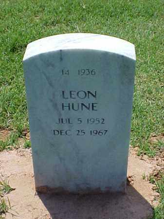 HUNE, LEON - Pulaski County, Arkansas | LEON HUNE - Arkansas Gravestone Photos
