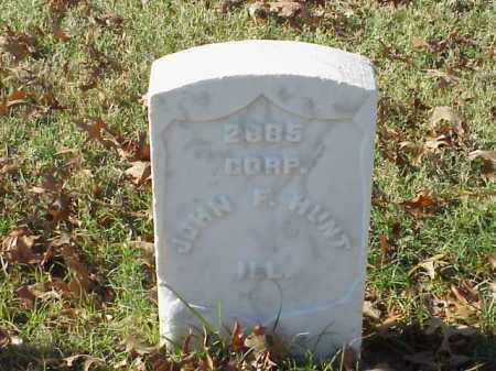 HUNT  (VETERAN UNION), JOHN F - Pulaski County, Arkansas | JOHN F HUNT  (VETERAN UNION) - Arkansas Gravestone Photos