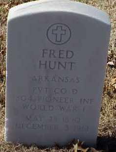 HUNT  (VETERAN WWI), FRED - Pulaski County, Arkansas | FRED HUNT  (VETERAN WWI) - Arkansas Gravestone Photos