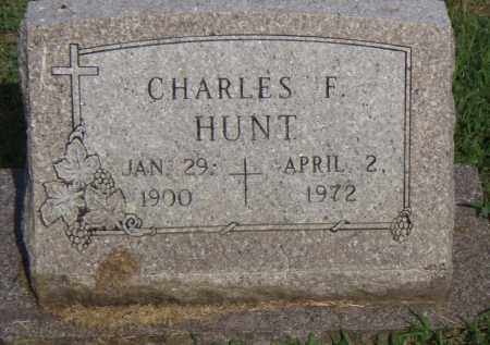 HUNT, CHARLES F. - Pulaski County, Arkansas | CHARLES F. HUNT - Arkansas Gravestone Photos