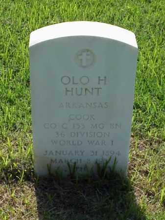 HUNT (VETERAN WWI), OLO H - Pulaski County, Arkansas   OLO H HUNT (VETERAN WWI) - Arkansas Gravestone Photos
