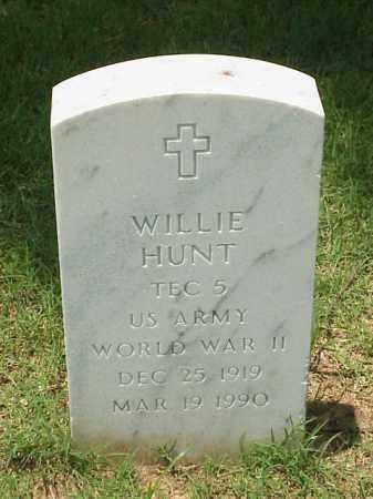 HUNT (VETERAN (WWII), WILLIE - Pulaski County, Arkansas | WILLIE HUNT (VETERAN (WWII) - Arkansas Gravestone Photos