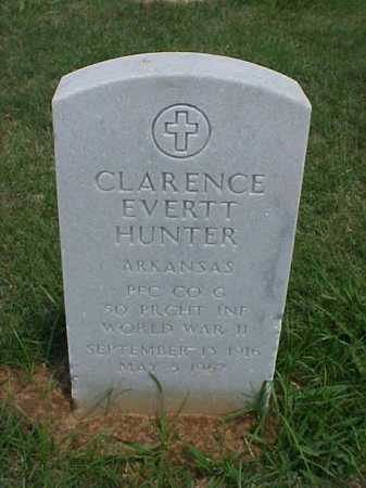 HUNTER (VETERAN WWI), CLARENCE EVERETT - Pulaski County, Arkansas | CLARENCE EVERETT HUNTER (VETERAN WWI) - Arkansas Gravestone Photos