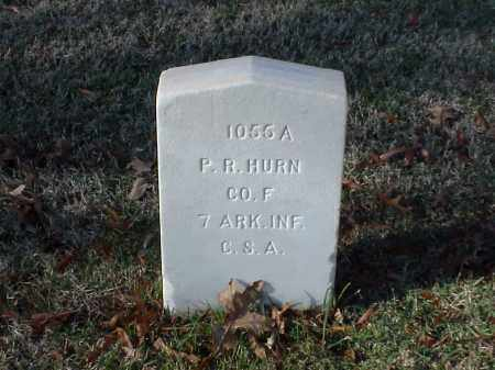 HURN  (VETERAN CSA), P R - Pulaski County, Arkansas   P R HURN  (VETERAN CSA) - Arkansas Gravestone Photos