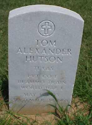 HUTSON (VETERAN WWI), TOM ALEXANDER - Pulaski County, Arkansas | TOM ALEXANDER HUTSON (VETERAN WWI) - Arkansas Gravestone Photos