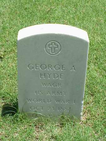 HYDE (VETERAN WWI), GEORGE A - Pulaski County, Arkansas | GEORGE A HYDE (VETERAN WWI) - Arkansas Gravestone Photos