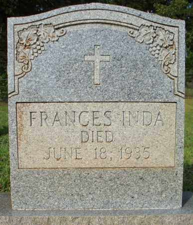 INDA, FRANCES - Pulaski County, Arkansas   FRANCES INDA - Arkansas Gravestone Photos