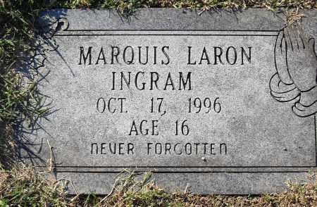 INGRAM, MARQUIS LARON - Pulaski County, Arkansas   MARQUIS LARON INGRAM - Arkansas Gravestone Photos