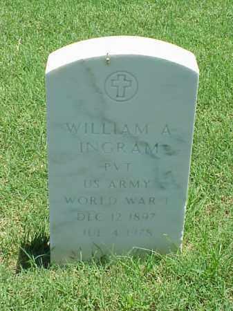 INGRAM (VETERAN WWI), WILLIAM A - Pulaski County, Arkansas   WILLIAM A INGRAM (VETERAN WWI) - Arkansas Gravestone Photos