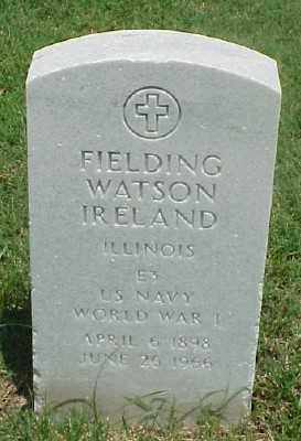 IRELAND (VETERAN WWI), FIELDING WATSON - Pulaski County, Arkansas | FIELDING WATSON IRELAND (VETERAN WWI) - Arkansas Gravestone Photos