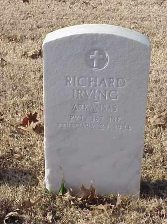 IRVING  (VETERAN WWI), RICHARD - Pulaski County, Arkansas   RICHARD IRVING  (VETERAN WWI) - Arkansas Gravestone Photos