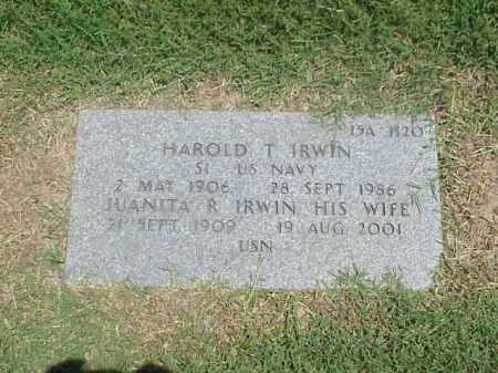 IRWIN (VETERAN WWII), HAROLD T - Pulaski County, Arkansas | HAROLD T IRWIN (VETERAN WWII) - Arkansas Gravestone Photos