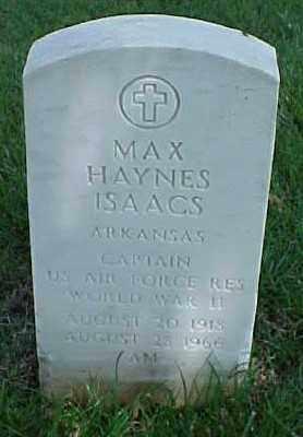 ISAACS (VETERAN WWII), MAX HAYNES - Pulaski County, Arkansas   MAX HAYNES ISAACS (VETERAN WWII) - Arkansas Gravestone Photos