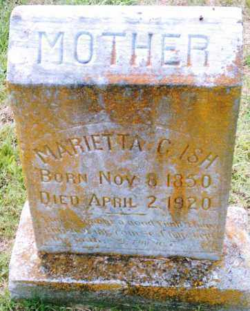 ISH, MARIETTA C. - Pulaski County, Arkansas | MARIETTA C. ISH - Arkansas Gravestone Photos