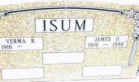 ISUM, JAMES O. - Pulaski County, Arkansas   JAMES O. ISUM - Arkansas Gravestone Photos