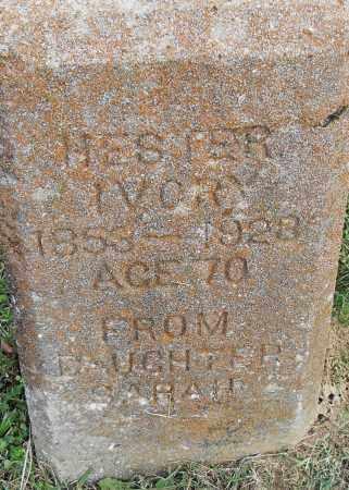 IVORY, HESTER - Pulaski County, Arkansas | HESTER IVORY - Arkansas Gravestone Photos