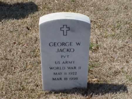 JACKO (VETERAN KOR), GEORGE W - Pulaski County, Arkansas | GEORGE W JACKO (VETERAN KOR) - Arkansas Gravestone Photos