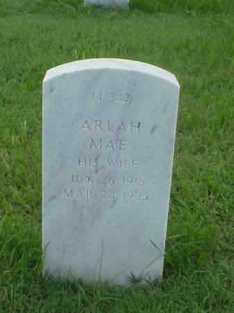 JACKSON, ARLAH MAE - Pulaski County, Arkansas | ARLAH MAE JACKSON - Arkansas Gravestone Photos