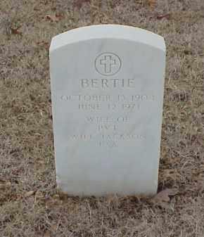 JACKSON, BERTIE - Pulaski County, Arkansas   BERTIE JACKSON - Arkansas Gravestone Photos