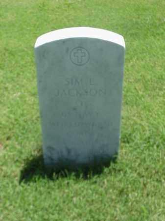 JACKSON (VETERAN 2 WARS), SIM L - Pulaski County, Arkansas   SIM L JACKSON (VETERAN 2 WARS) - Arkansas Gravestone Photos