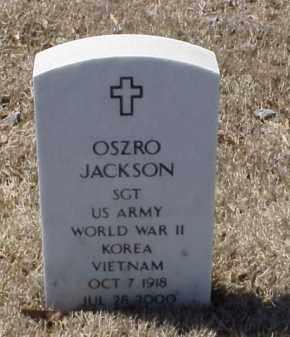 JACKSON (VETERAN 3 WARS), OSZRO - Pulaski County, Arkansas | OSZRO JACKSON (VETERAN 3 WARS) - Arkansas Gravestone Photos
