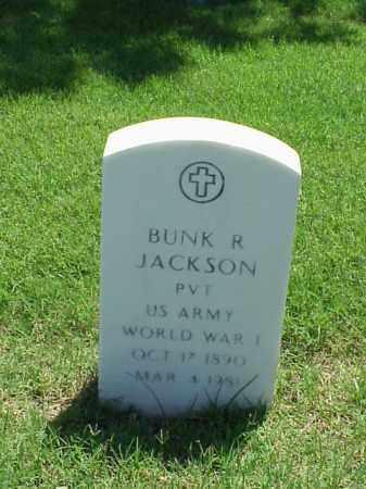 JACKSON (VETERAN WWI), BUNK R - Pulaski County, Arkansas | BUNK R JACKSON (VETERAN WWI) - Arkansas Gravestone Photos