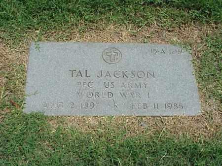 JACKSON (VETERAN WWI), TAL - Pulaski County, Arkansas   TAL JACKSON (VETERAN WWI) - Arkansas Gravestone Photos
