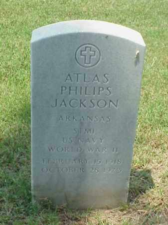 JACKSON (VETERAN WWII), ATLAS PHILIPS - Pulaski County, Arkansas   ATLAS PHILIPS JACKSON (VETERAN WWII) - Arkansas Gravestone Photos