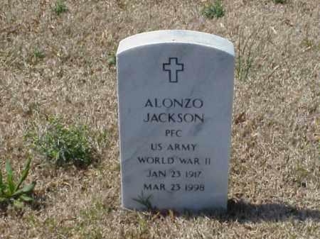 JACKSON (VETERAN WWII), ALONZO - Pulaski County, Arkansas | ALONZO JACKSON (VETERAN WWII) - Arkansas Gravestone Photos