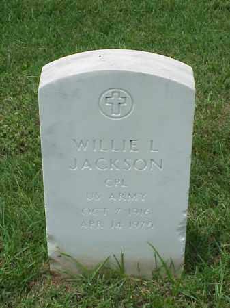 JACKSON (VETERAN WWII), WILLIE L - Pulaski County, Arkansas | WILLIE L JACKSON (VETERAN WWII) - Arkansas Gravestone Photos