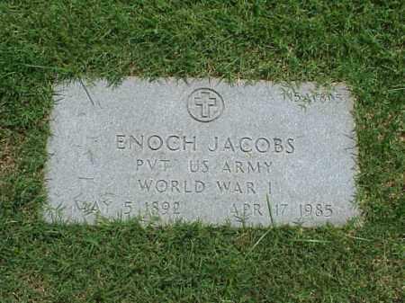 JACOBS (VETERAN WWI), ENOCH - Pulaski County, Arkansas | ENOCH JACOBS (VETERAN WWI) - Arkansas Gravestone Photos