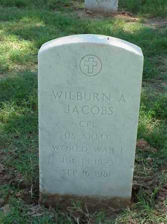 JACOBS (VETERAN WWI), WILBURN A - Pulaski County, Arkansas | WILBURN A JACOBS (VETERAN WWI) - Arkansas Gravestone Photos