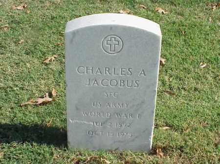 JACOBUS (VETERAN WWI), CHARLES A - Pulaski County, Arkansas | CHARLES A JACOBUS (VETERAN WWI) - Arkansas Gravestone Photos
