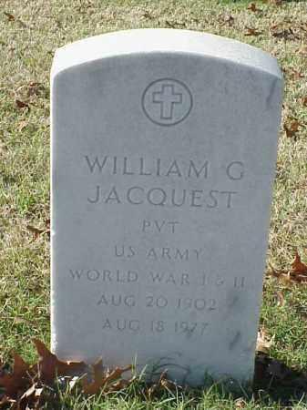 JACQUEST (VETERAN 2 WARS), WILLIAM G - Pulaski County, Arkansas | WILLIAM G JACQUEST (VETERAN 2 WARS) - Arkansas Gravestone Photos