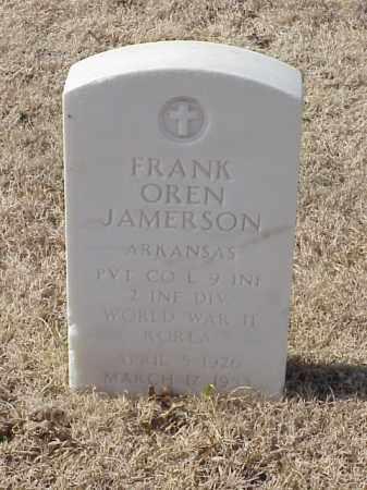 JAMERSON (VETERAN 2 WARS), FRANK OREN - Pulaski County, Arkansas | FRANK OREN JAMERSON (VETERAN 2 WARS) - Arkansas Gravestone Photos
