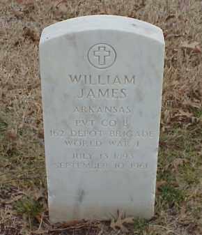 JAMES  (VETERAN WWI), WILLIAM - Pulaski County, Arkansas | WILLIAM JAMES  (VETERAN WWI) - Arkansas Gravestone Photos