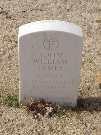 JAMES (VETERAN WWI), JOHN WILLIAM - Pulaski County, Arkansas   JOHN WILLIAM JAMES (VETERAN WWI) - Arkansas Gravestone Photos