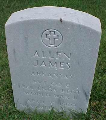JAMES (VETERAN WWII), ALLEN - Pulaski County, Arkansas | ALLEN JAMES (VETERAN WWII) - Arkansas Gravestone Photos