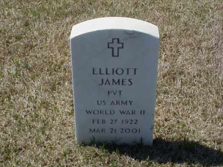 JAMES (VETERAN WWII), ELLIOTT - Pulaski County, Arkansas   ELLIOTT JAMES (VETERAN WWII) - Arkansas Gravestone Photos