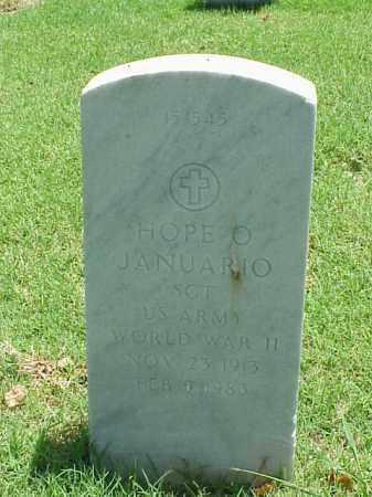 JANUARIO (VETERAN WWII), HOPE O - Pulaski County, Arkansas   HOPE O JANUARIO (VETERAN WWII) - Arkansas Gravestone Photos