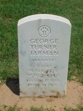 JARMAN (VETERAN WWI), GEORGE TURNER - Pulaski County, Arkansas   GEORGE TURNER JARMAN (VETERAN WWI) - Arkansas Gravestone Photos