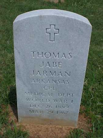 JARMAN (VETERAN WWI), THOMAS JABE - Pulaski County, Arkansas | THOMAS JABE JARMAN (VETERAN WWI) - Arkansas Gravestone Photos