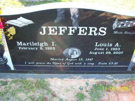 JEFFERS, LOUIS A - Pulaski County, Arkansas   LOUIS A JEFFERS - Arkansas Gravestone Photos