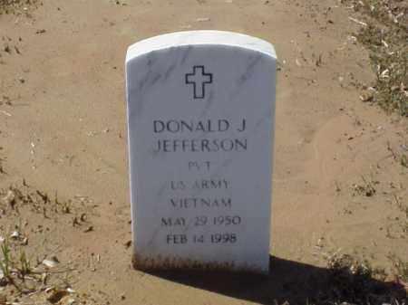JEFFERSON  (VETERAN VIET), DONALD J - Pulaski County, Arkansas   DONALD J JEFFERSON  (VETERAN VIET) - Arkansas Gravestone Photos