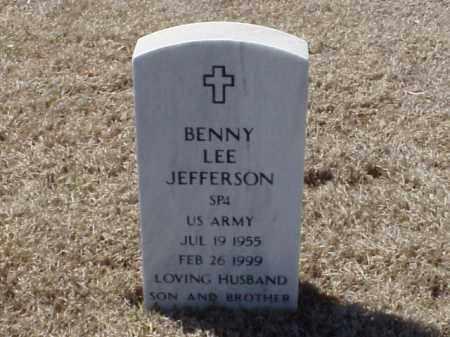 JEFFERSON (VETERAN), BENNY LEE - Pulaski County, Arkansas | BENNY LEE JEFFERSON (VETERAN) - Arkansas Gravestone Photos