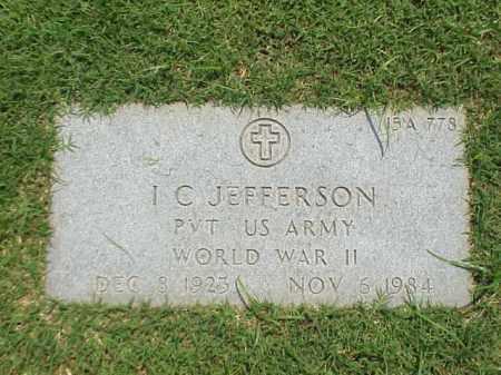 JEFFERSON (VETERAN WWII), I C - Pulaski County, Arkansas | I C JEFFERSON (VETERAN WWII) - Arkansas Gravestone Photos