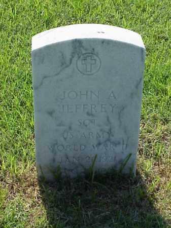 JEFFREY (VETERAN WWII), JOHN A - Pulaski County, Arkansas   JOHN A JEFFREY (VETERAN WWII) - Arkansas Gravestone Photos