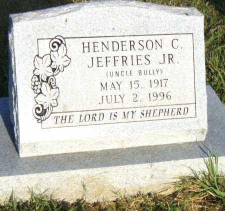 JEFFRIES, JR., HENDERSON C. - Pulaski County, Arkansas | HENDERSON C. JEFFRIES, JR. - Arkansas Gravestone Photos