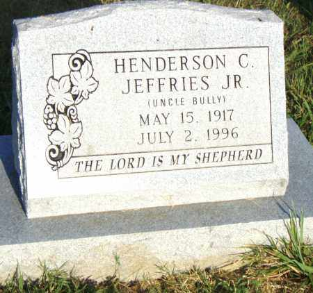JEFFRIES, JR., HENDERSON C. - Pulaski County, Arkansas | HENDERSON C. JEFFRIES, JR. - Arkansas Gravestone Photos